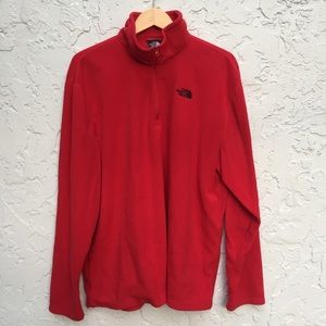 NORTH FACE Men's Size XL Red Polyester Sweater
